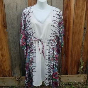 Naughty Girl Sun Beach Kimono Dress NWT